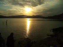 Schöner Sonnenuntergang Stockfotografie