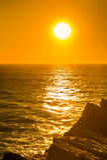 Schöner Sonnenuntergang, Atlantik Stockfoto