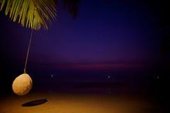Schöner Sonnenuntergang auf der Insel Stockfotografie