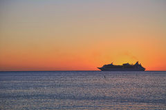 Schöner Sonnenuntergang auf der Insel von Key West Lizenzfreie Stockfotos
