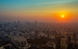 Schöner Sonnenuntergang in Bangkok Thailand Stockfoto