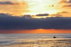 Schöner Sonnenuntergang bei Palos Verdes, Kalifornien lizenzfreies stockbild