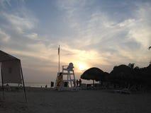 Schöner Sonnenuntergang in Cartagena Kolumbien Lizenzfreies Stockfoto