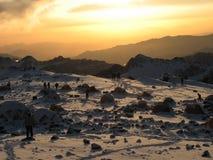 Schöner Sonnenuntergang in den Anden Lizenzfreies Stockfoto