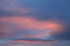 Schöner Sonnenuntergang im Rosa Lizenzfreies Stockbild