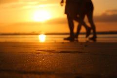 Schöner Sonnenuntergang im Tamarindo Stockfotos