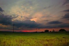 Schöner Sonnenuntergang Obora Lizenzfreie Stockfotos
