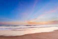 Schöner Sonnenuntergang in Südkalifornien-Strand Lizenzfreies Stockbild