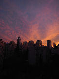 Schöner Sonnenunterganghimmel stockbild