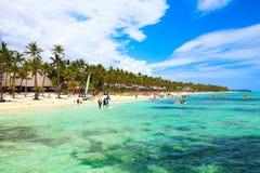 Schöner sonniger Tag in Punta Cana, 01 05 13 Stockbild