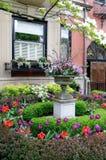 Schöner städtischer Garten stockbilder