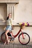 Schöner Stadtradfahrer Lizenzfreies Stockbild