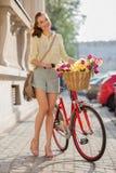 Schöner Stadtradfahrer Stockbild