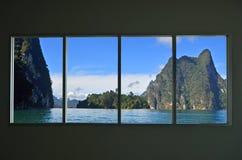 Schöner Standort in der Fensteransicht lizenzfreies stockbild