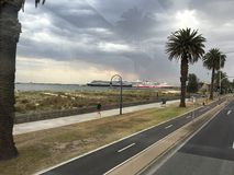 Schöner StKilda-Strand Australien Victoria lizenzfreies stockfoto
