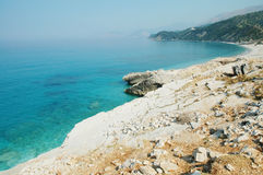 Schöner Strand in Albanien Lizenzfreie Stockfotos