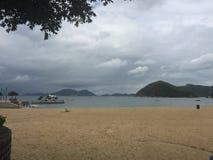 Schöner Strand auf dem südlichen Teil von Hong Kong-Insel lizenzfreies stockbild