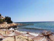 Schöner Strand auf Schwarzem Meer in Bulgarien lizenzfreies stockbild