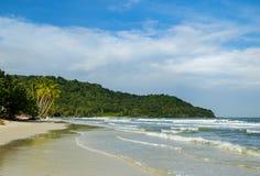 Schöner Strand in Insel Phu Quoc, Vietnam lizenzfreies stockfoto