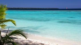 Schöner Strand mit ursprünglichem Türkiswasser in der Konflikt-Insel, Papua-Neu-Guinea Stockfotos