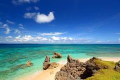 Schöner Strand in Okinawa Stockbilder