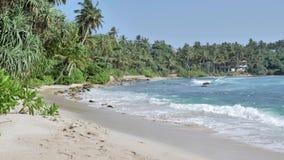 Schöner Strand-Ozean Slowmotion 4k Sri Lankas stock video