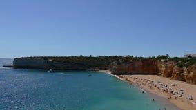 Schöner Strand Praia-Nova in Portugal, Algarve - 4K stock video