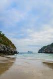 Schöner Strand in Südostasien, Cat Ba, Halong-Bucht, Vietnam Lizenzfreie Stockfotografie