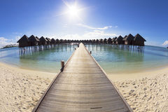 Schöner Strand und Wasser villa.maldives Stockfoto