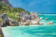 Schöner Strand von Seychellen Lizenzfreie Stockbilder