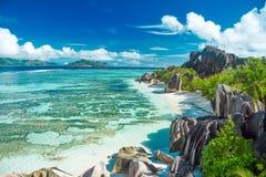 Schöner Strand von Seychellen Lizenzfreies Stockfoto