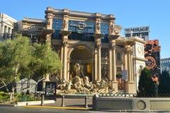 Schöner Streifen Hotel-Caesar Palace On The Lass Vegas Reiseferien stockbilder