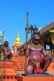 schöner Stuck auf dem Tempel von Thailand Stockbilder