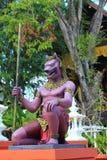 schöner Stuck auf dem Tempel von Thailand Stockbild