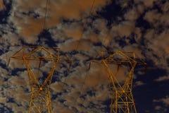 Schöner Sturmhimmel mit Wolken, Apocalypse mögen Stockfotografie