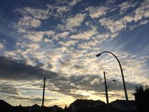 Schöner szenischer Sonnenuntergang Lizenzfreie Stockfotografie