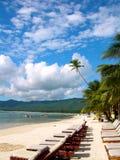 Schöner Tag in einer tropischen Rücksortierung Stockfotografie