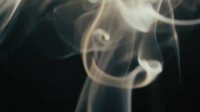 Schöner Tanz des Rauches stock footage