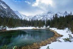 Schöner Tatra-Mountain View am Fisch-Nebenfluss Lizenzfreies Stockfoto