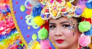 Schöner Teilnehmer von Parade Asienspieles 2018 stock footage