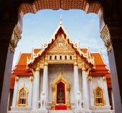 Schöner thailändischer Tempel Wat Benjamaborphit, Tempel in Bangkok, Tha Lizenzfreies Stockbild