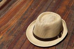 Schöner traditioneller Panama-Hut stockfotos