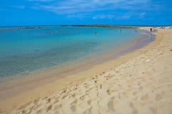 Schöner tropischer Kaanapali-Strand in Maui Hawaii Lizenzfreies Stockbild