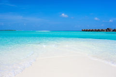 Schöner tropischer Strand bei Malediven Lizenzfreie Stockfotografie