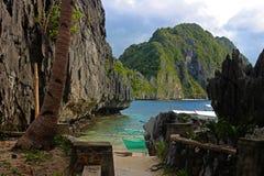 Schöner tropischer Strand - EL Nido, Philippinen Lizenzfreies Stockfoto