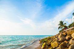 Schöner tropischer Strand von Khao Lak Phangnga in Thailand Stockbild