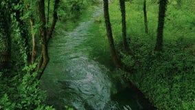 Schöner Una-Fluss stock footage