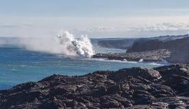 Schöner und atemberaubender Kilauea Volcano Lava Big Island Hawaii lizenzfreies stockfoto