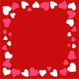 Schöner und ursprünglicher Rahmen von Herzen für Glückwünsche herein mit Valentinsgruß ` s Tag lizenzfreie stockfotos