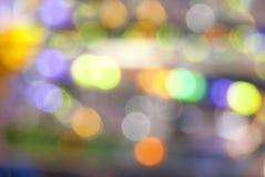 Schöner undeutlicher und bunter Lichter bokeh Hintergrund lizenzfreies stockbild